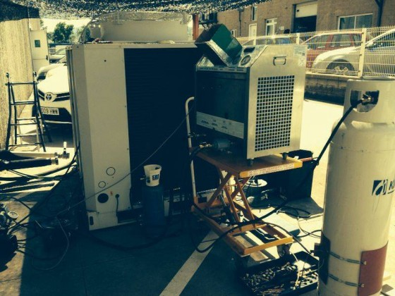 Cleaning Lennox chiller in Barcelona