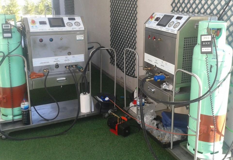 Reinigung einer VRF-Anlage des Herstellers Hitachi in Madrid