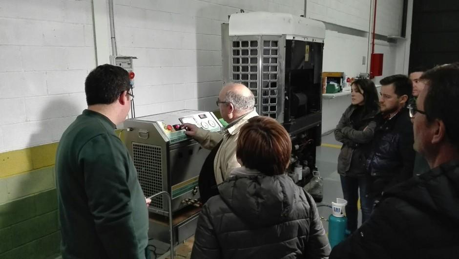 Circuito frigorífico de unidad Thermo King impoluto con Fri3Oil System